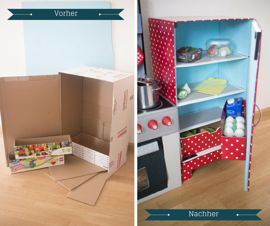 DIY Kinderküche aus Kartons - Teil 3: Der Kühlschrank | Kinderküche ...