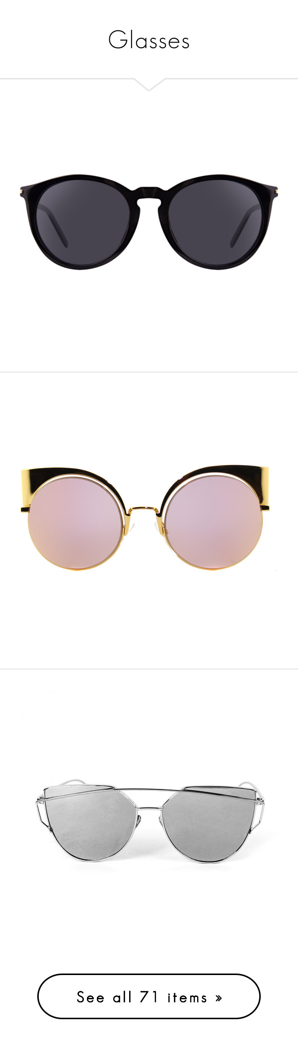 """Glasses"" by qwerty-16-polyvore ❤ liked on Polyvore featuring accessories, eyewear, sunglasses, glasses, black, yves saint laurent eyewear, yves saint laurent glasses, oval sunglasses, yves saint laurent sunglasses and lens glasses"