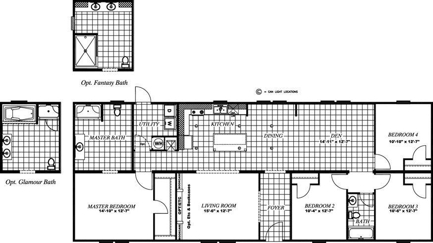The Revolution 68 Floor Plan Starting 75000 Modular Homes For Sale Modular Homes House Blueprints