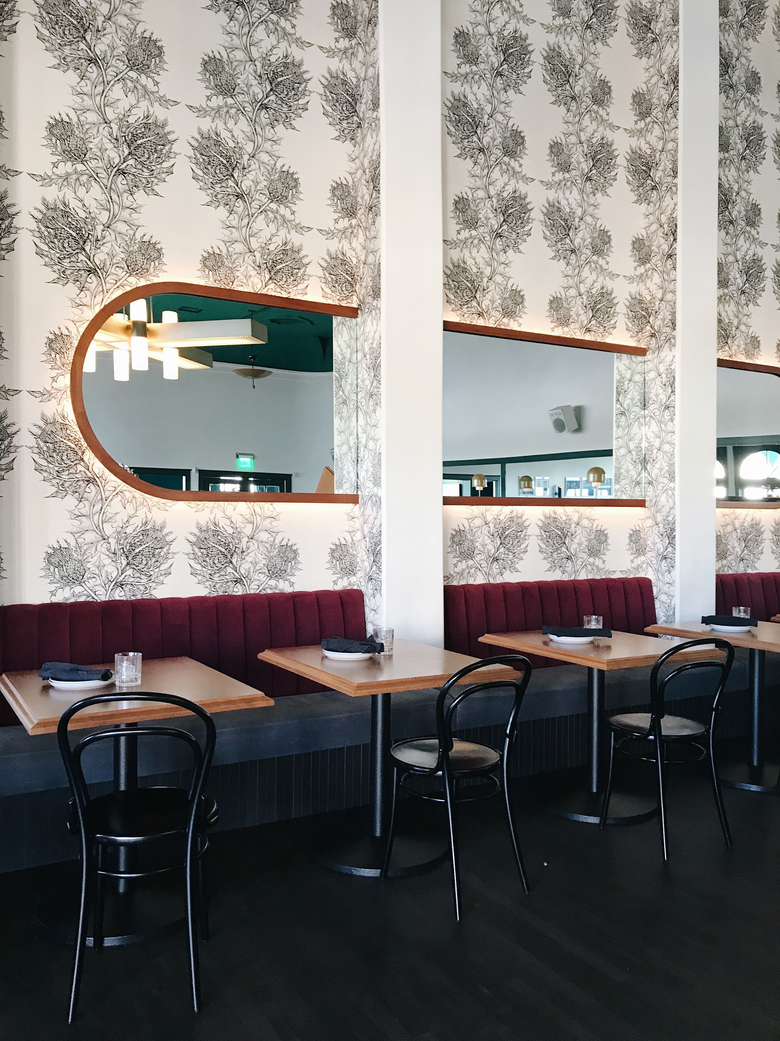 The New Restaurant Checker Hall Los Angeles Is Beautifully Designed With Enough Decor Details To Sati Restaurant Design Restaurant Seating Restaurant Interior