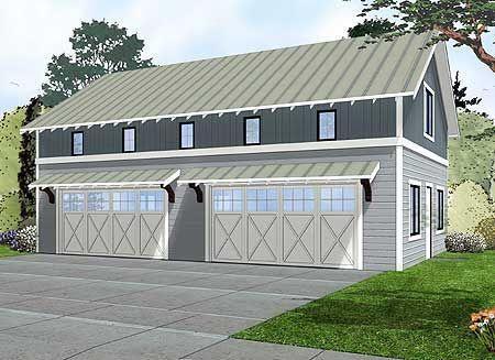 Lurking in side Garage Plan 62593DJ - a half court basketball court