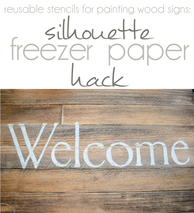 Reusable Stencils For Painting Wood Signs Silhouette Freezer Paper Hack Silhouette School B Stencils For Wood Signs Freezer Paper Stenciling Freezer Paper