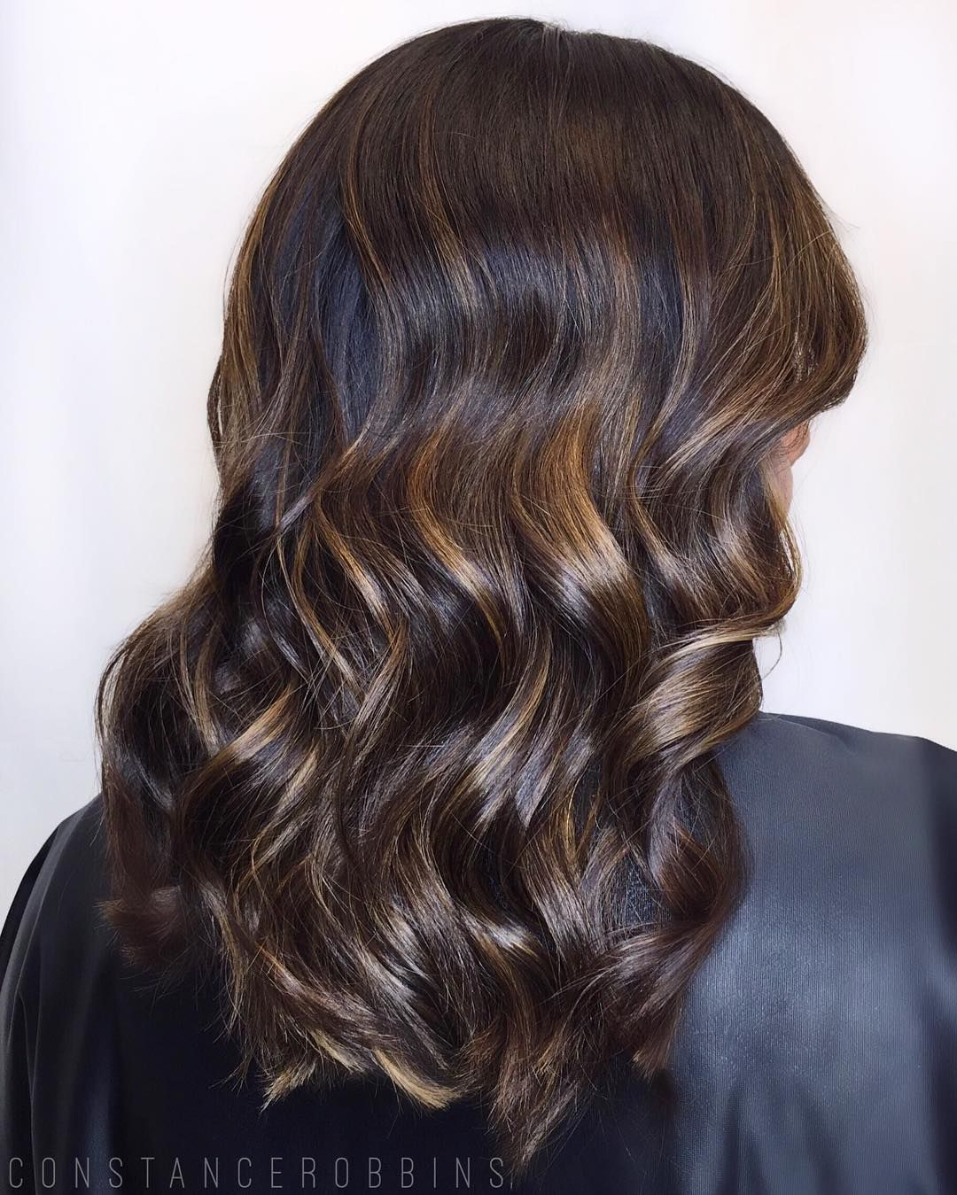 60 Looks With Caramel Highlights On Brown And Dark Brown Hair Black Hair With Highlights Golden Brown Hair Light Brown Hair