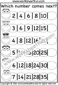 number patterns number series 1 worksheet patterns pinterest number patterns. Black Bedroom Furniture Sets. Home Design Ideas