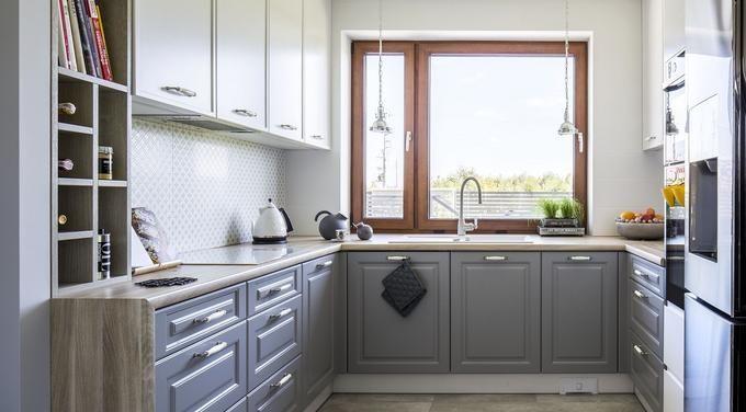 Szara Kuchnia W Stylu Klasycznym Small Kitchen Home Decor Kitchen