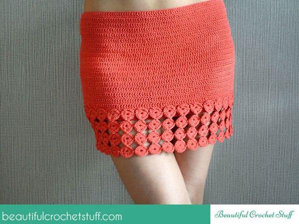 Crochet Skirt Free Pattern | Rock und Kleider