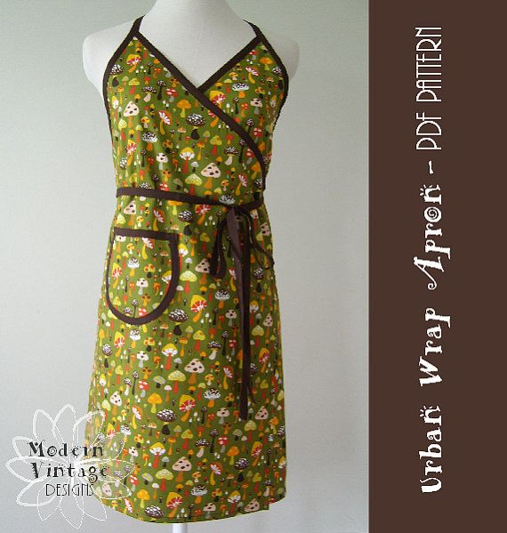 Easy Sewing Pattern PDF Women's Apron Full by ModernVintageDesigns, $8.00