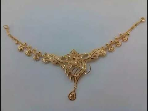Gold Necklace Designs In 10 Grams In 2020 Gold Necklace Designs Bridal Gold Jewellery Designs Gold Earrings Designs