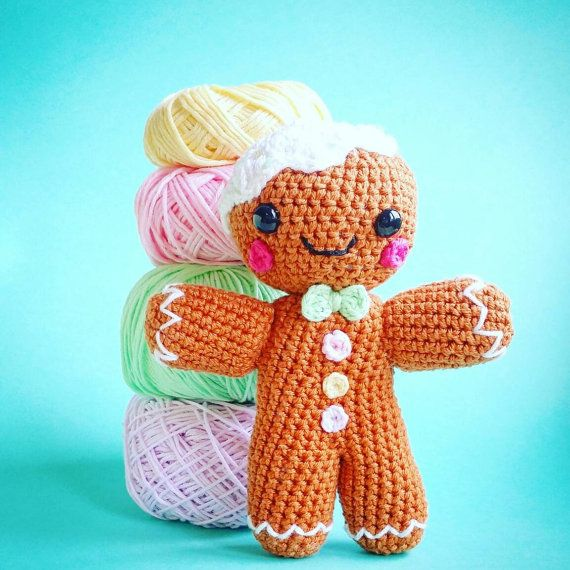 Amigurumi little snowman gingerbread hazelnut chocolate Decoration ...