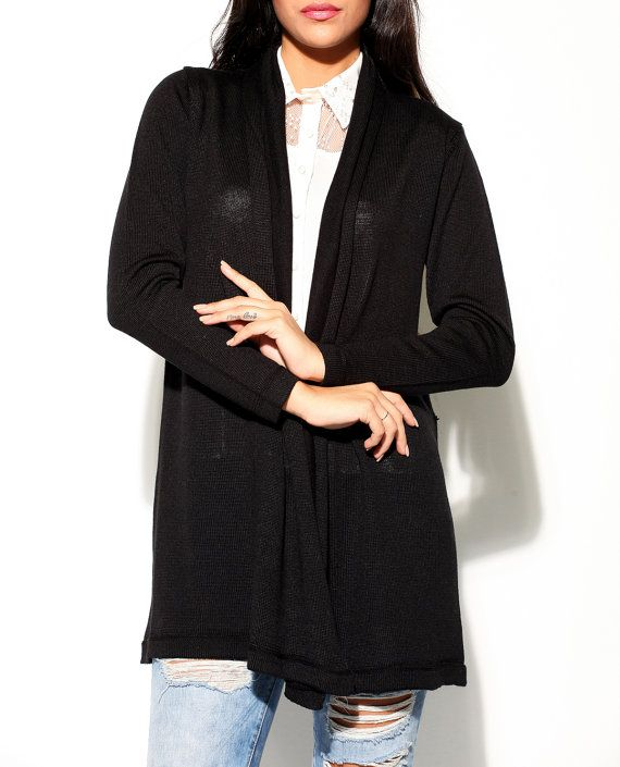 black cardigan womens clothing long cardigan sweater oversized ...