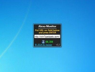 Alexa Monitor 1 2 Windows 7 Sidebar Gadget Http Win7gadgets Com