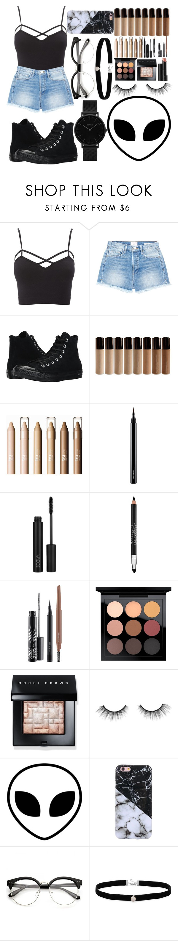 """""""Back From the Edge"""" by diamond139 ❤ liked on Polyvore featuring beauty, Charlotte Russe, Frame, Converse, MAC Cosmetics, Maybelline, Bobbi Brown Cosmetics, Arbonne, tarte and Amanda Rose Collection"""