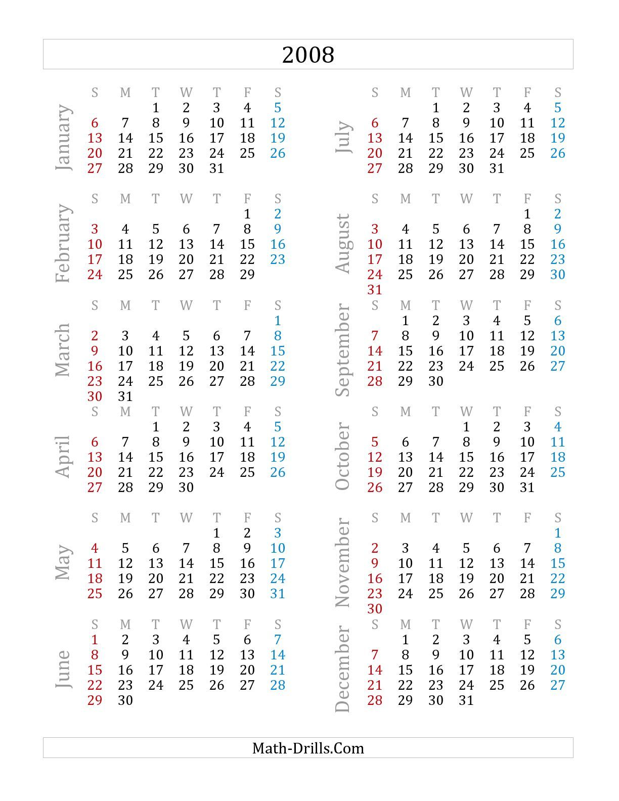 The Yearly Calendar A
