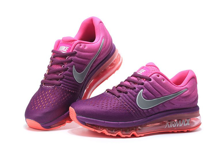 Woman s Nike Air Max 2017 Running Shoes Bright Grape Pink Blast Peach  Cream White 849560-502  1-1709AXMW-7  -  72.00 1614bc918