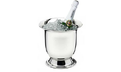 Stainless Steel Champagnère By Angela la Poupee'. Now available at TheGiftery.com! For more information call 01221103868 (Sunday- Thursday 9:30 am to 5:30 pm)