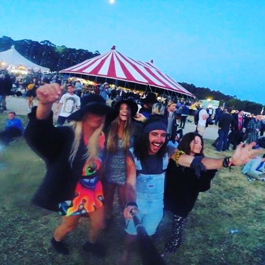 Nothing like dancing with mates to some good tunes... Gremlins everywhere  #fallsfestival #dance #dancing #hippys #hippiespirits #goodvibes #music #musicfestival #festival #summer #falls #lorne #fullmoon #overalls #gypsy #gypsies #boho #gremlins #chikkynuggies #babes by gypsy.jessup http://ift.tt/1IIGiLS