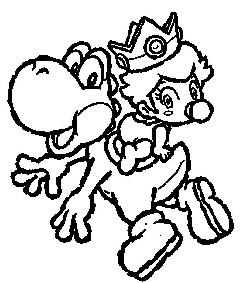 cool Yoshi Coloring Pages To Print Colouring Pages Pinterest
