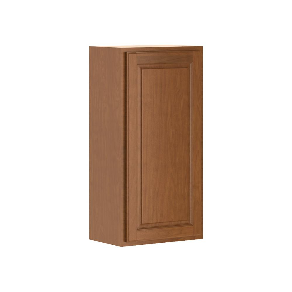 Hampton Bay Madison Assembled 18x36x12 In Wall Cabinet In Chestnut W1836 Mcog Wood Door Frame Shaker Style Doors The Hamptons
