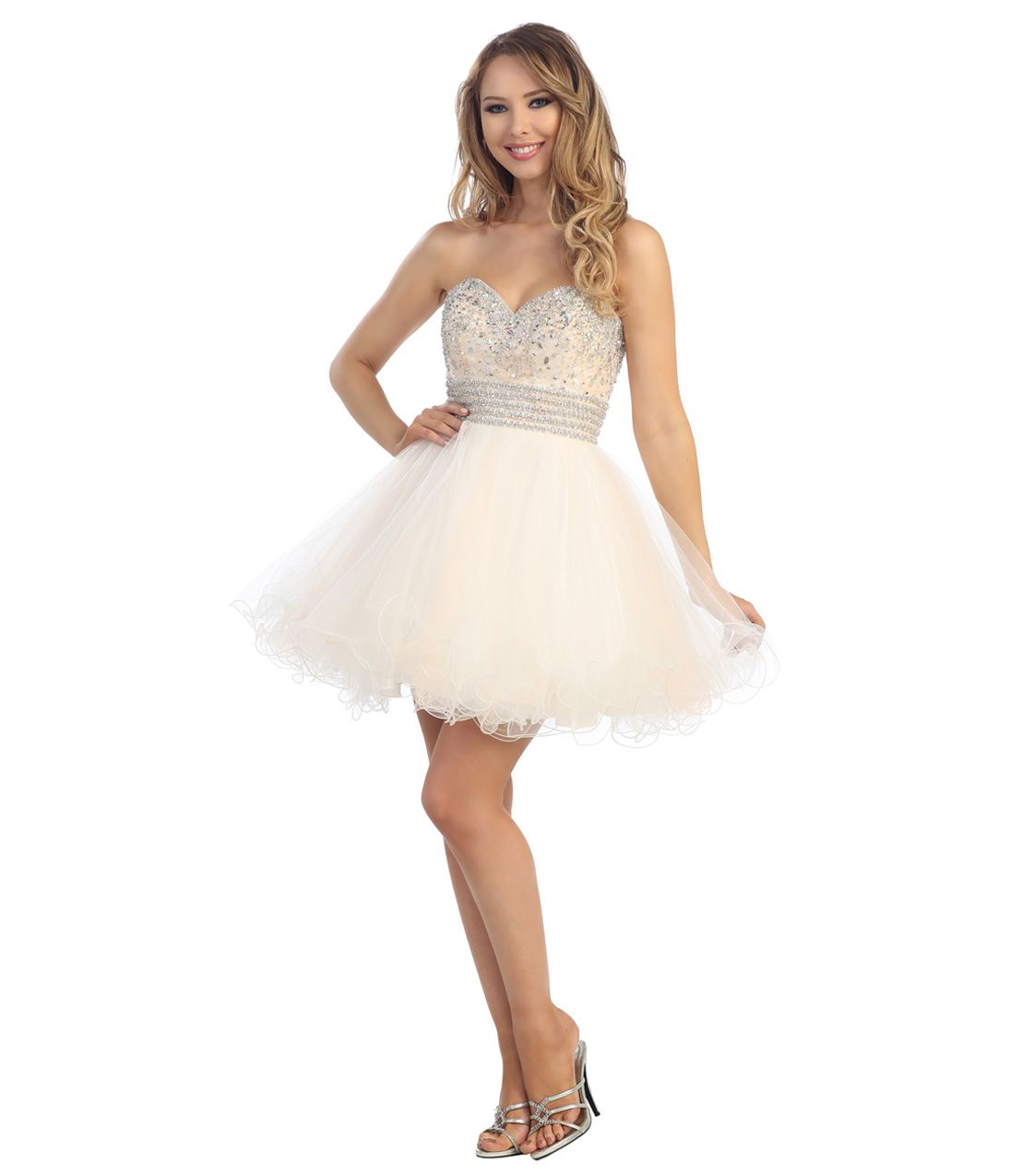 Unique Vintage | White tulle, Prom and Shorts
