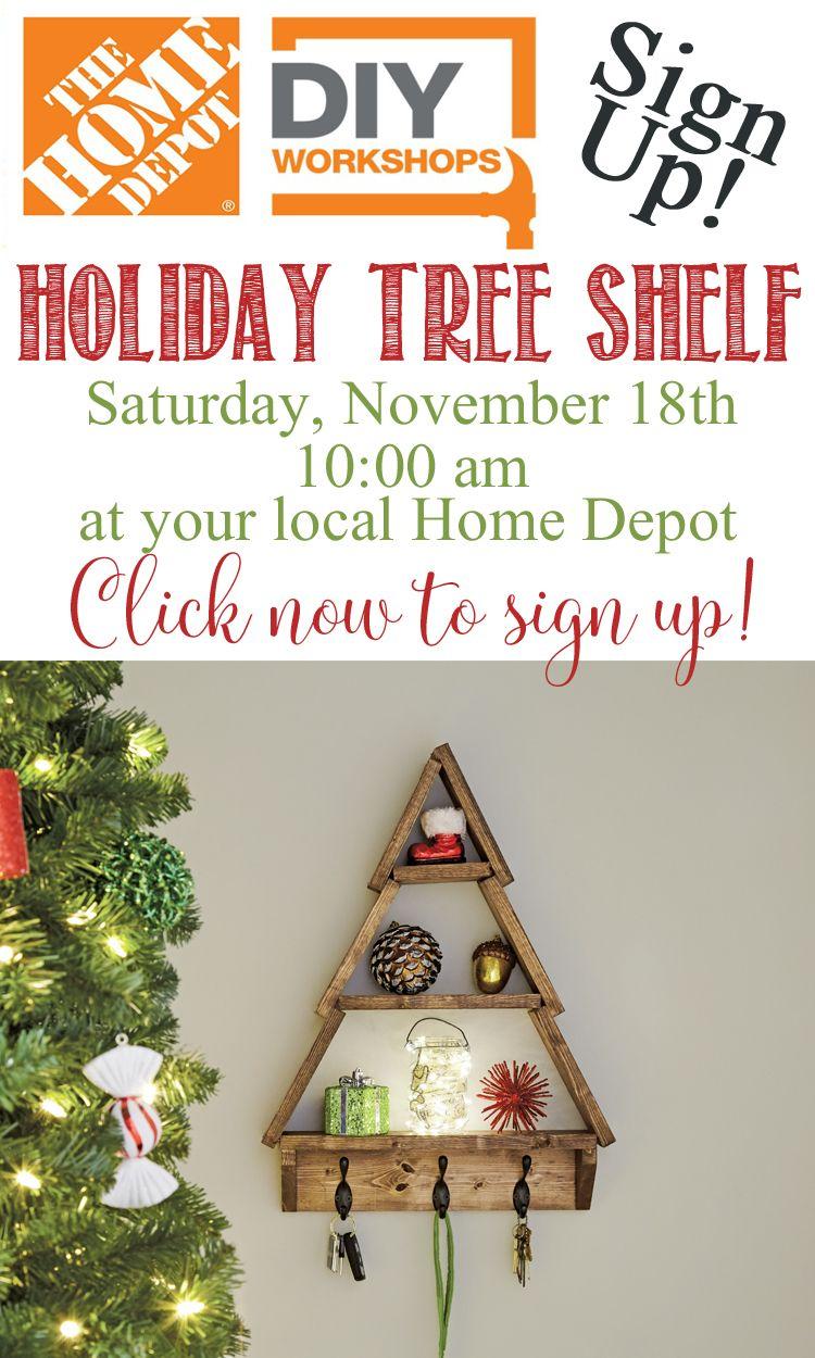 Holiday Tree Shelf with DIY Home Depot   How to / DIY Tutorials ...