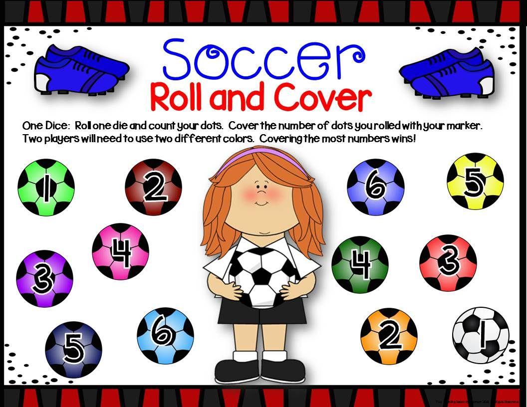 Soccer Math Center Dice Games