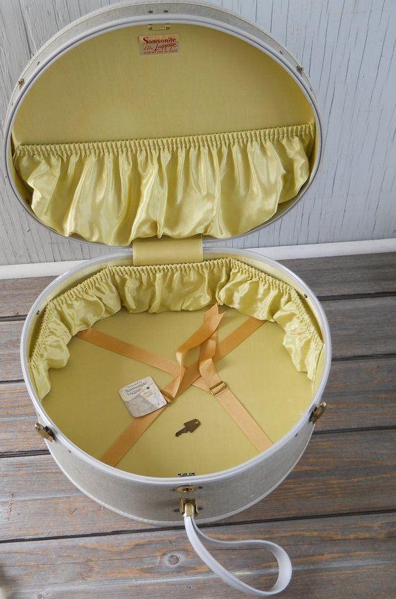 Vintage Samsonite Round Suitcase with Key by HazeyJaneVintage ...