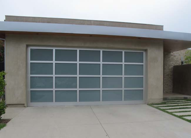 Garage Door Window Aluminum Glass Doors Clear Anodized Rails White Laminate Glass Glass Garage Door Garage Doors House Exterior