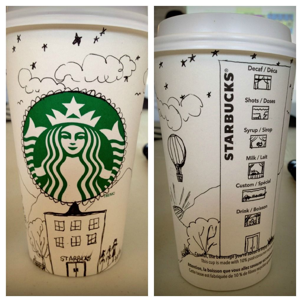 starbucks cup doodles something i did quickly at work last week starbucks cup doodles something i did quickly at work last week