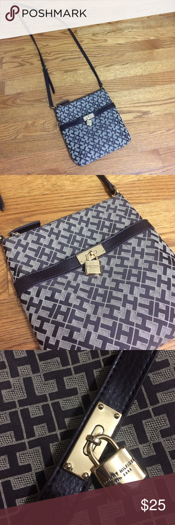 Brown Tommy Hilfiger Crossover Purse Tommy Hilfiger Purse in great condition Tommy Hilfiger Bags Crossbody Bags