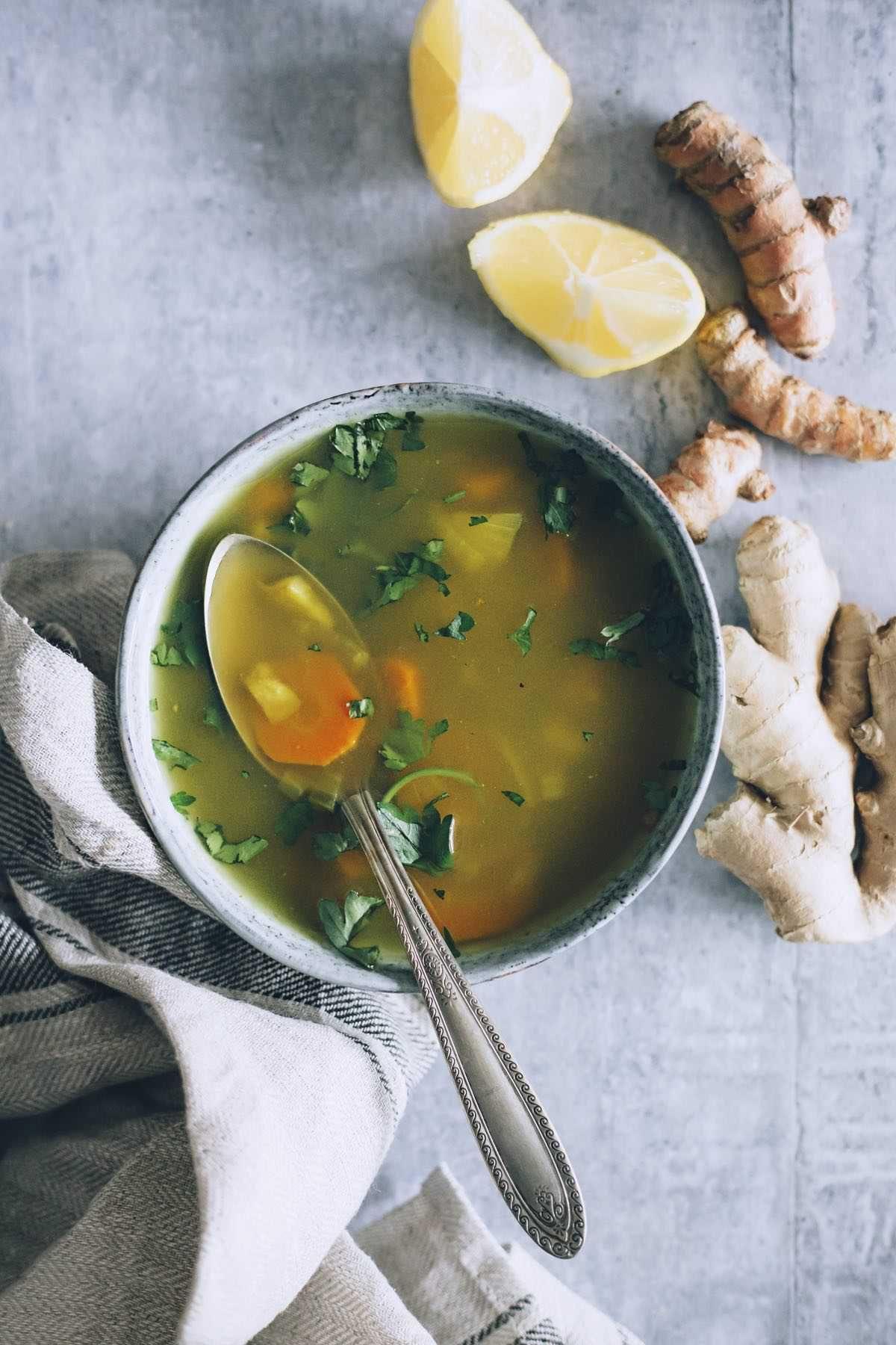 Immune boosting vegetable soup
