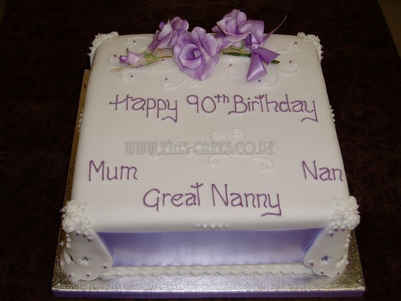 90th Birthday Cake All her names foods Pinterest 90