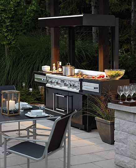 An outdoor kitchen can create another favourite spot on