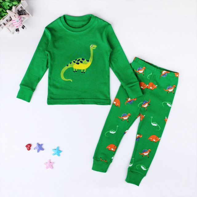 9.19   Free Shipping   Coupons  Kids Pajama Sets Dinosaur Sleepwear  Girls Pijamas Suit Children pyjama T-shirt Pants  a36dea0c7