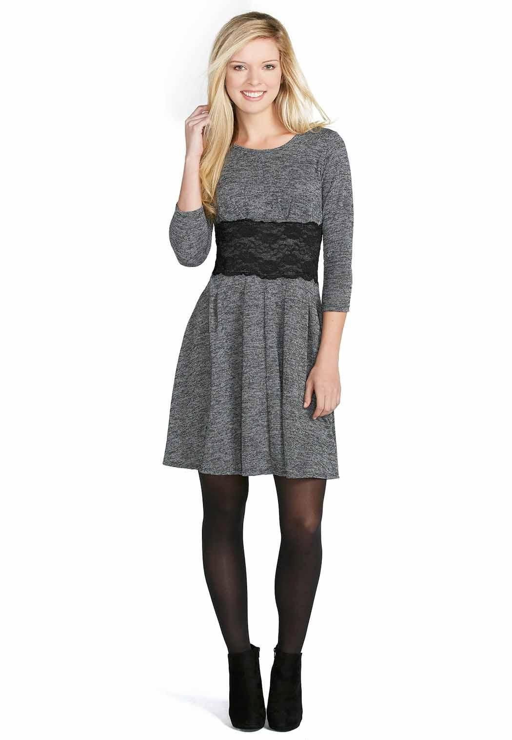 67d3c63dd681 $30 Lace Panel Sweater Dress Dresses Cato Fashions | My Style ...