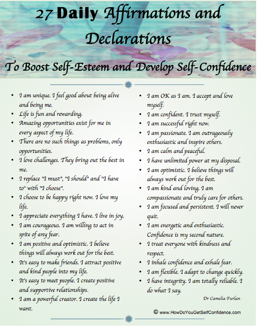 Positive affirmations for health and healing