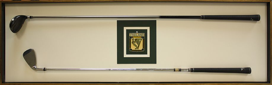 Custom Framed Golf Clubs in a shadowbox. Design by Art and Frame ...