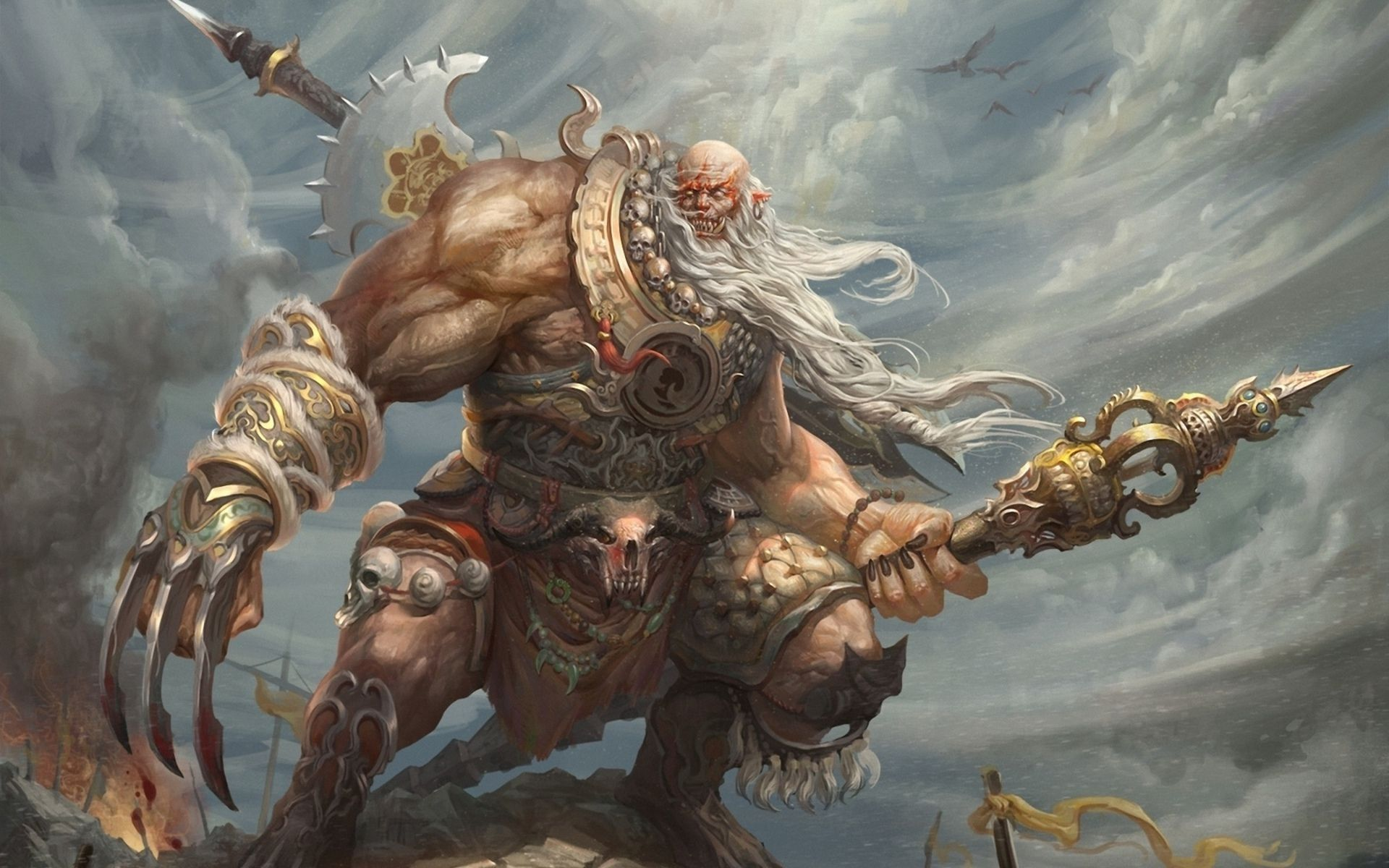 Giant Warrior Free Desktop Wallpaper Giant Warrior Warriors Pictures Giants Fantasy giants wallpapers fantasy