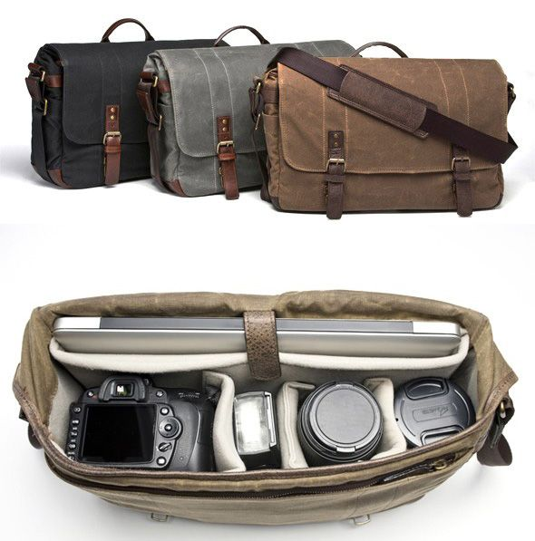 Camera Bag Laptop And Lenses In A Leather Messenger Yes Please