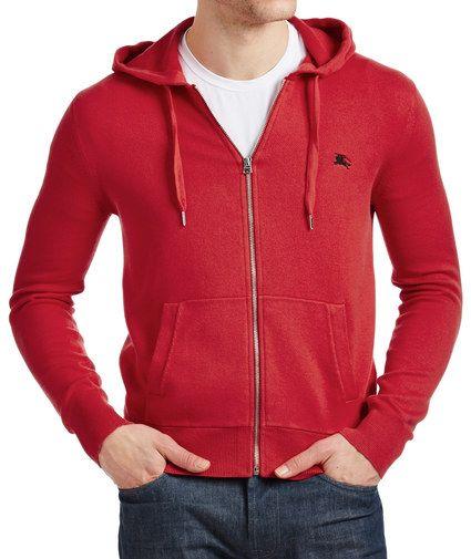 burberry hoodie mens red
