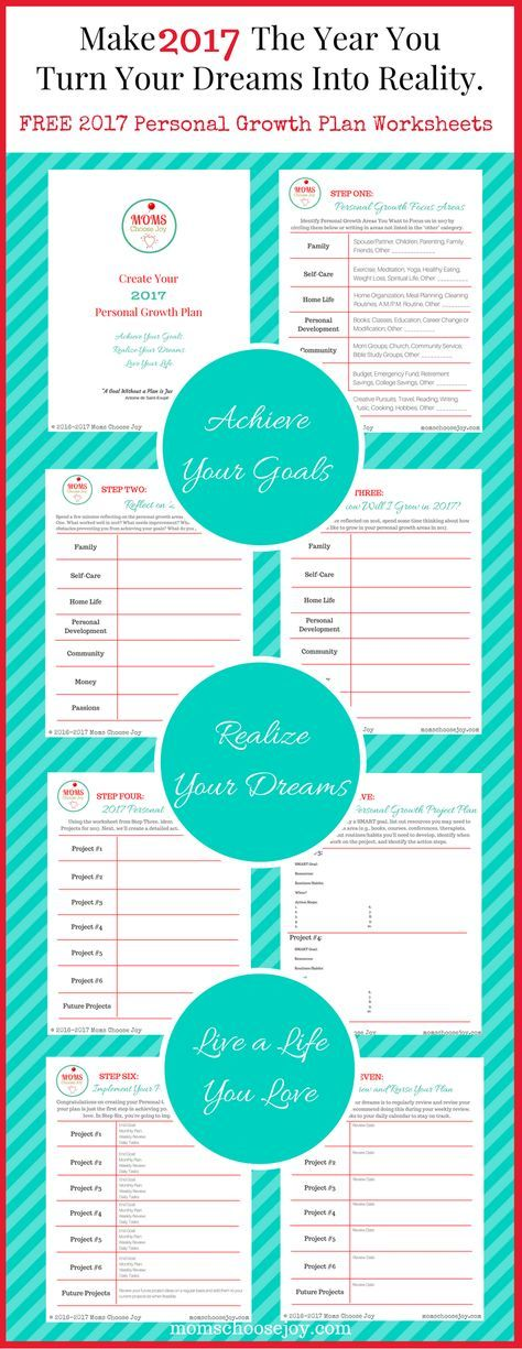 Printable Worksheets personal growth worksheets : 2017 Personal Growth Plan - FREE Goal Setting Worksheets | Goal ...
