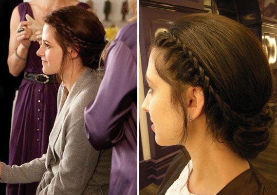 Tutorial For Kristen Stewart S Breaking Dawn Wedding Hairstyle Hochzeitsfrisuren Hochzeit Frisuren