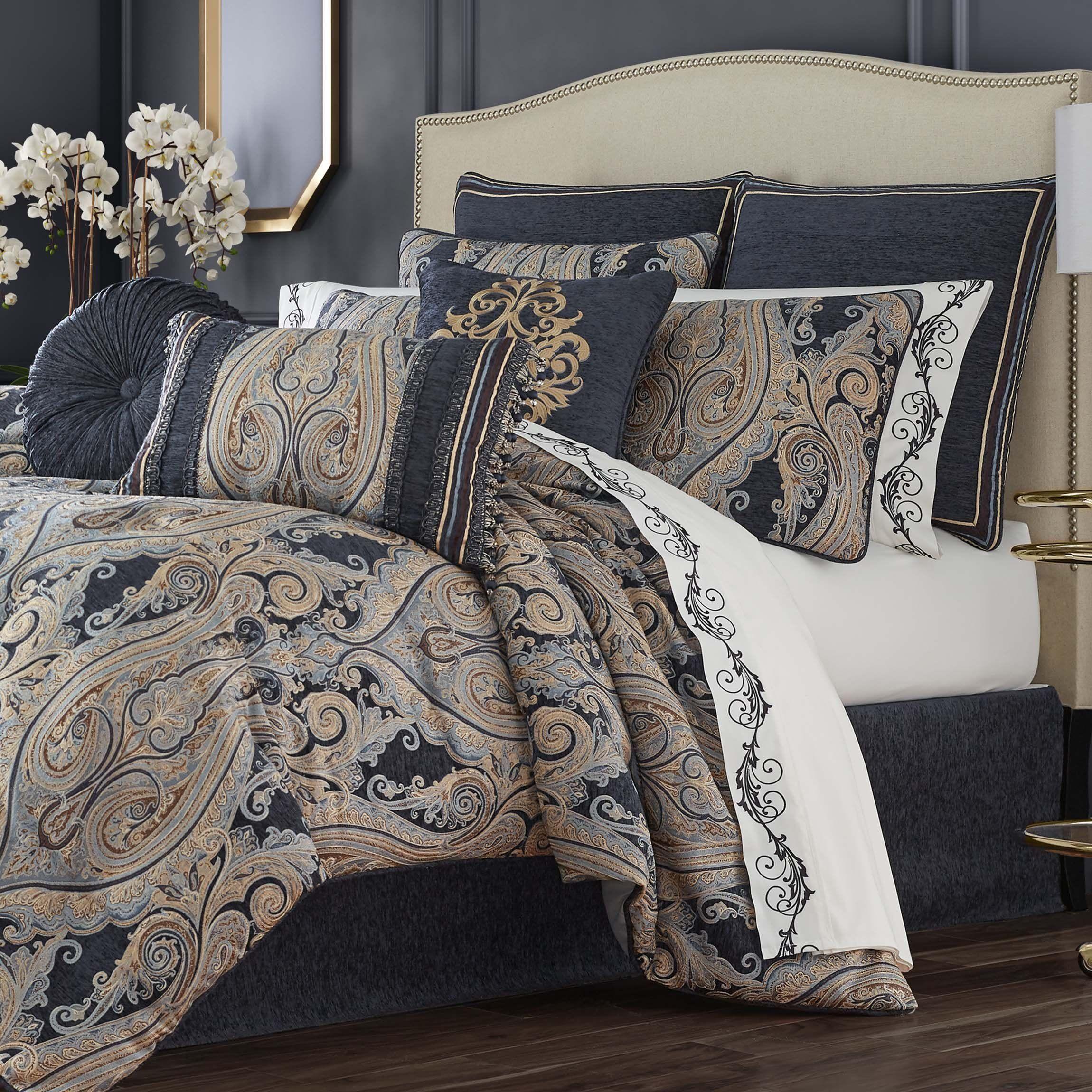 Luciana Indigo 4Piece Comforter Set Latest Bedding in