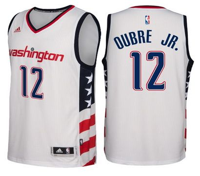 d0d7ec894cf Washington Wizards  12 Kelly Oubre Jr. 2016-17 Stars   Stripes White  Alternate Swingman Jersey