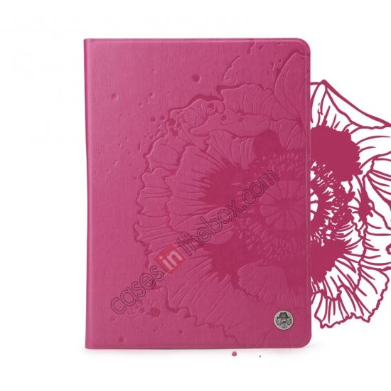 ROCK Impres Series Stand Folio Leather Case for iPad Air With Auto Wake Sleep function - Rose US$36.69