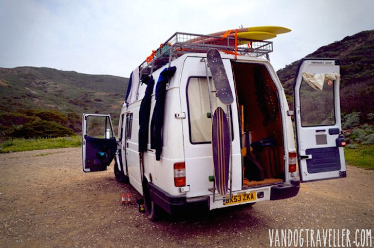 Man Quits Job To Convert Old Van Into A Cozy Solar Powered Mobile Cabin