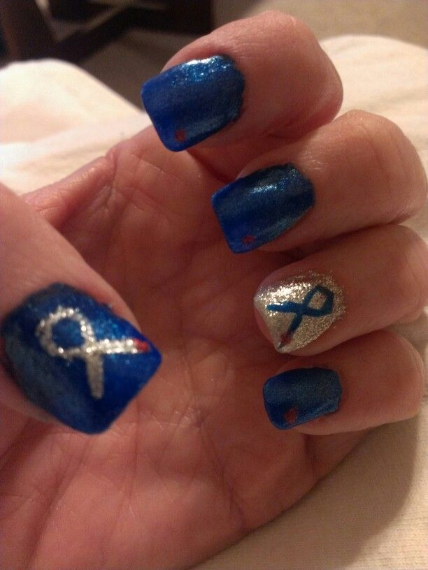 November Nail Art Challenge 2013: Diabetes Awareness Month... We Need A Cure.