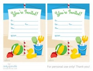 Today I Want To Share With You Free Birthday Invitation Template For - Beach birthday invitation templates
