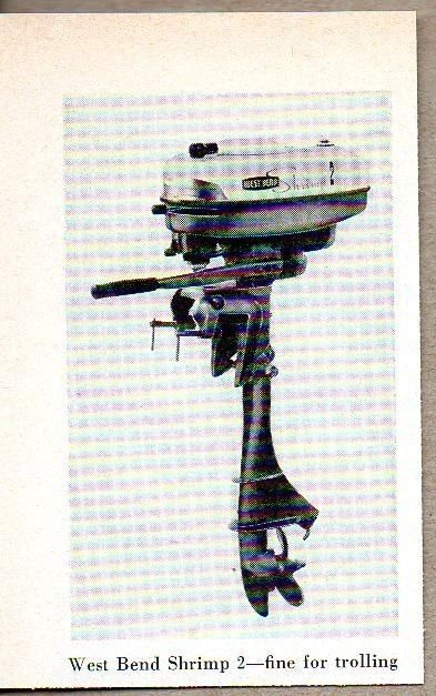 1960 Magazine Photo West Bend Shrimp 2 Outboard Motors #MagazineAd