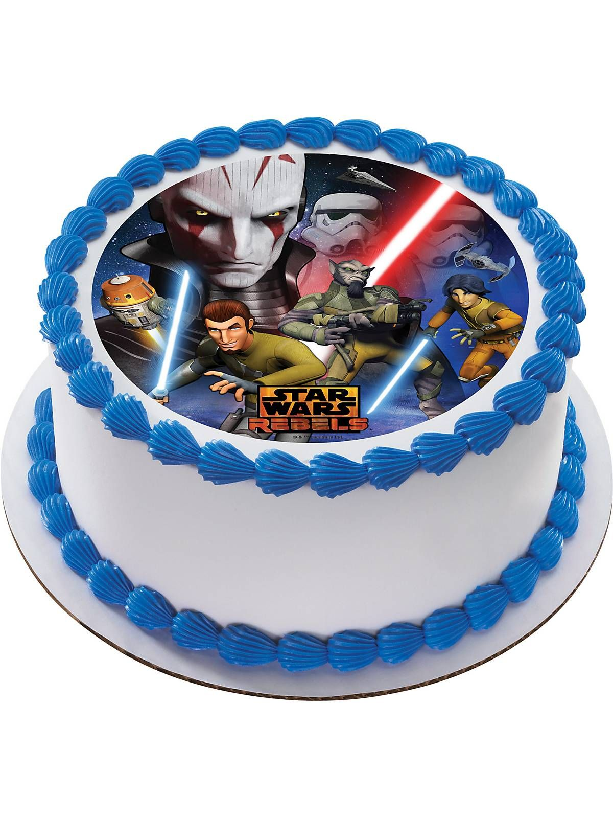 Star Wars Rebels 75 Round Edible Cake Topper Cheap Party