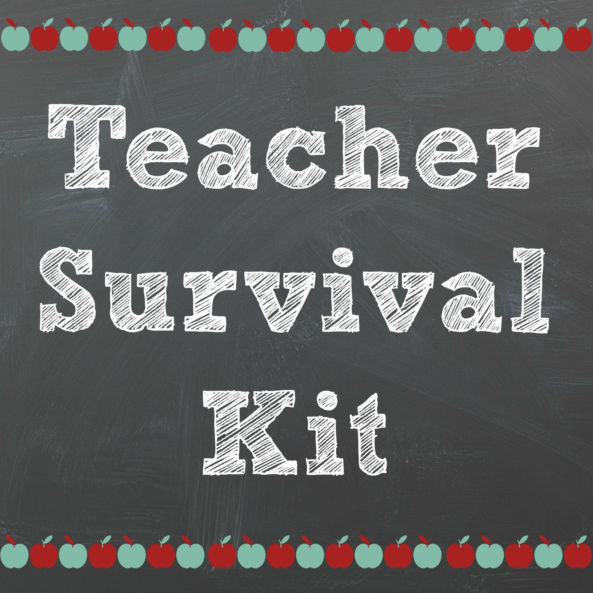 graphic about Teacher Survival Kit Printable named Back again in the direction of Higher education Trainer Offer Package Do-it-yourself Trainer survival